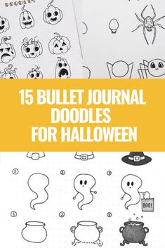 SIMPLE AND FUN FALL DOODLES FOR YOUR BULLET JOURNAL THAT YOU NEED TO SEE! THESE STEP BY STEP HALLOWEEN DOODLES ARE TOO CUTE! Click to read more. Borders Bullet Journal, Bullet Journal Hacks, Bullet Journal Themes, Bullet Journal Inspiration, Bullet Journal Lettering Ideas, Journal Ideas, Bullet Journals, Bullet Journal Headers And Banners, Bullet Journal Gifts