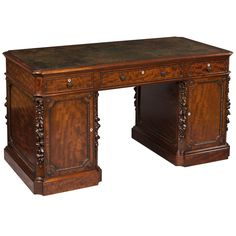 Antique Pedestal Desk of Superb Quality by Hamptons of Pall Mall | From a unique collection of antique and modern desks at https://www.1stdibs.com/furniture/storage-case-pieces/desks/
