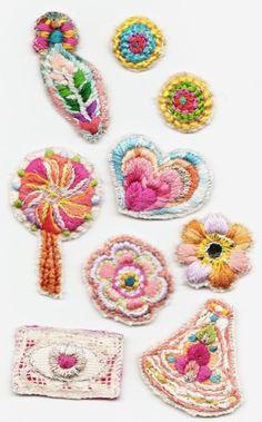 ワッペン風刺繍☆の作り方|刺繍|編み物・手芸・ソーイング