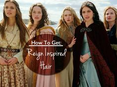 How To Get: Reign Inspired Hair | Here are step by step instructions to get the hairstyles featured in Reign! More:  http://perlasancheza.blogspot.com/2015/01/how-to-get-reign-inspired-hair.html