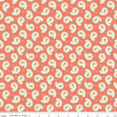 Riley Blake Designs Calliope Paisley in Coral Fabric One Yard on Etsy, $10.11 CAD