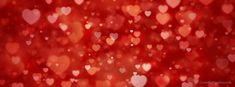Floating Hearts Facebook Valentine's Day Timeline Cover