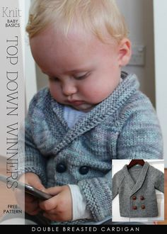 Top-down baby cardigans and sweaters - free patterns by DiaryofaCreativeFanatic