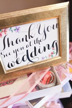 Cute idea for favors display at bridal shower