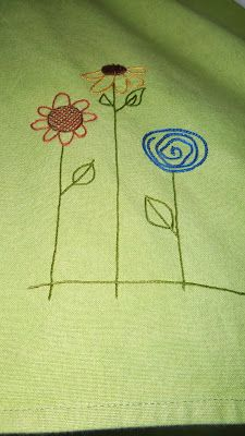 Miss Effie's Diary -- hand-embroidered tea towel .. $15.00