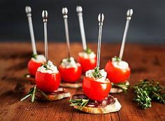 How cute are these Cheese-Stuffed Cherry Tomatoes? #artofcheese #presidentcheese #cheese #appetizer