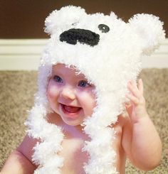 Furry Curly Polar Bear Hat on Etsy, $25.00
