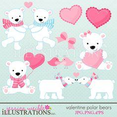 Valentine Polar Bears Imagens