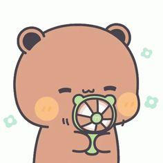 Cute Bunny Cartoon, Cute Love Cartoons, Chibi Cat, Cute Chibi, Panda Gif, Panda Bear, Bear Gif, Cute Bear Drawings, Little Panda