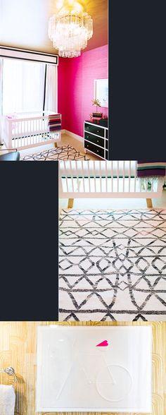 hotpinkglamnursery2 Hot Pink, Nursery, Black, Home Decor, Decoration Home, Black People, Room Decor, Babies Rooms, Baby Room