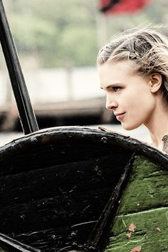 """Vikings. Thorunn. """"I want to fight in the shield wall. I want to be like Lagertha."""""""