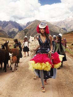 peruvian fashion shoot. all i got to say.