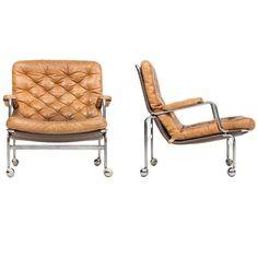 Bruno Mathsson Karin Easy Chairs by DUX, Sweden at Modern Furniture, Furniture Design, Outdoor Furniture, Vintage Leather Sofa, Leather Sofas, Outdoor Chairs, Lounge Chairs, Cozy Corner, Easy Chairs