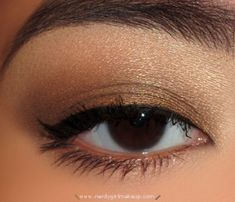 NAKED palette look...i actually do this look a lot using (my pal's company) Brazen Cosmetics loose shadow... Immaculate on the brow, Innuendo on the lid and crease and Cleo as liner...  check out the line at Brazen... great stuff...    http://www.brazencosmetics.com