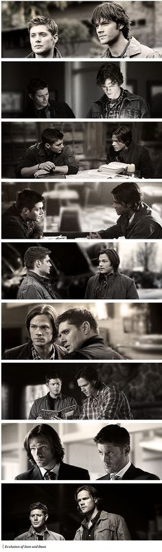 The evolution of Sam and Dean