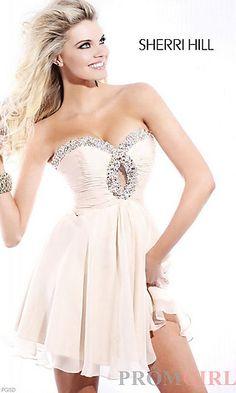 Short Strapless Prom Dress, Sherri Hill Short Dresses- PromGirl