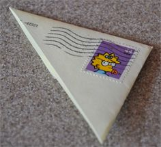 Postage envelope corner book mark