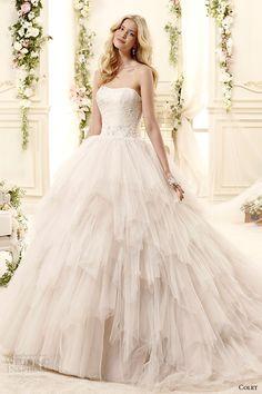 Colet #bridal 2015: style coab15282ch strapless ball gown #wedding dress #weddingdress #weddinggown