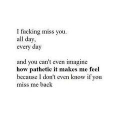 worst feeling ever ... :(