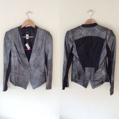 Jackets & Blazers - Comme USA black silver blazer moto on Poshmark