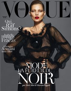 Kate Moss, Lara Stone & Daria Werbowy Cover Vogue Paris Redesigned September Issue
