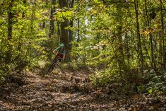 Putting the Stan's Arch MK3 wheelset to the test in North Georgia. Rider/photo: Aaron Chamberlain