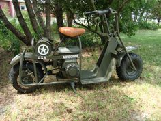 ARMY AIRBORNE MODEL 53 WW 2 MILITARY PARATROOPER SCOOTER CUSHMAN CYCLE MIMEO