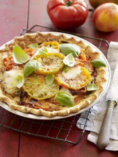 Farm to Fork: Heirloom Tomato Pie #myplate #veggies