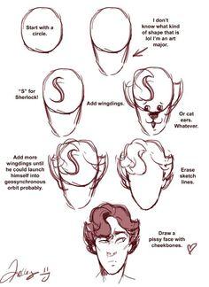 How to draw Benedict Cumberbatch || Sherlock