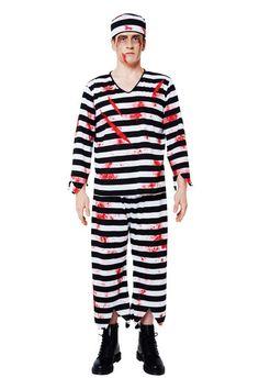 picture of Bloody Prisoner Costume Set (Mens) 3