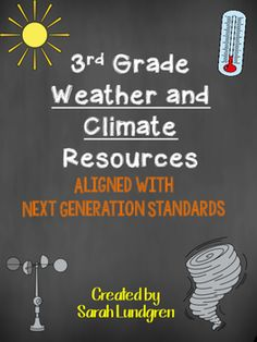 UPDATED!!! INCLUDES 9 MORE PAGES*NEW* Weather Tool WS*NEW* Bar Graph Activity*NEW* Climate WS*NEW* Weather vs. Climate Assessment The following document aligns with NGSS for third grade. The following pages align with NGSS for third grade. I gave a short description on each item below.https://eo.ucar.edu/kids/green/what1.htm -difference between weather and climateWeather Vocabulary WSResearch Weather tools WShttp://youngmeteorologist.org/?page_id=37 -weather informationCollecting Weather…
