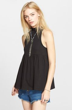 Free People 'Cupcake' Retro Mock Neck Tank available at #Nordstrom