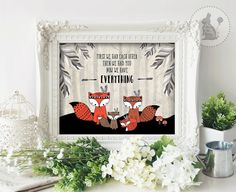 Tribal FOX Nursery Art. INSTANT Download. von BlueBunnyPrintables