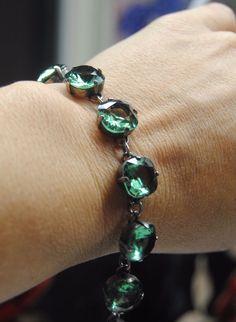 la vie bracelet catherine popesco green swarovski crystal pre-owed Catherine Pop #CatherinePopesco