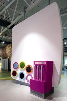 Interior fitting decorative panel / Solid Surface / matte - EUREKA by At Large Museum & Exhibition - HI-MACS®
