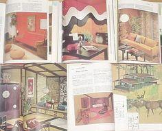 MCM HOME INTERIOR DECORATING 18 Book SET Vtg MODERN ATOMIC Ranch,DESIGN PROJECT