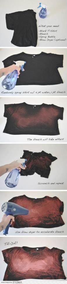 Tie Dye super prático. Pode ser feita em uma blusa masculina M cortada (fica linda se amarrada na cintura com shorts de cós alto ou boyfriend)