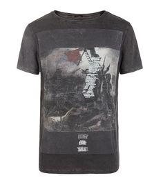 Barrier Cut Collar T-shirt, AllSaints Spitalfields New Mens Fashion, Band  Shirts, 95fdfc2c7a2e
