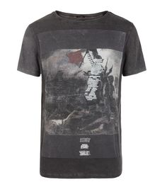 Barrier Cut Collar T-shirt, AllSaints Spitalfields