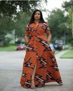Orange African Print Dress/African Print Dress/African Clothing/African Fashion/African Maxi Dress/A African Maxi Dresses, Latest African Fashion Dresses, African Print Fashion, Africa Fashion, African Attire, African Wear, Ethnic Fashion, African Style, African Dresses For Women