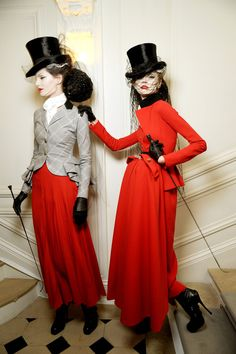 Iris and Olga@Christian Dior spring 2010