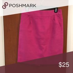 JCREW FACTORY Pencil Skirt - Fuschia Amazing skirt for work or weekends.  Cotton.  Dry clean. J.Crew Factory Skirts Pencil