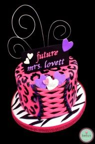 love this Pink Leopard and Zebra Bachelorette Cake