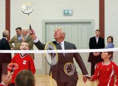 Prince Charles even tried his hands at some badminton.