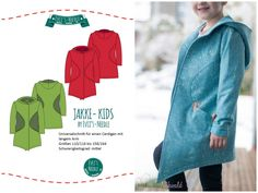 """Ebook Cardigan """"JAKKE-Kids"""" by EvLi's-Needle Diy And Crafts, Ebooks, Kids, Outfit, Fitness, Angel, Styling Tips, Sewing For Kids, Sewing Patterns"""
