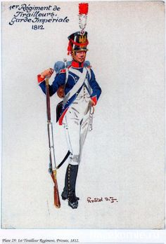 Young Guard 1st Regiment of Tirailleurs of the Imperial Guard in the Russian Campaign of 1812