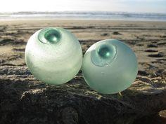 Japanese Glass Fishing Floats  Set of 2 Alaska by GlassFloatJunkie
