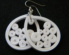 Items similar to Twisty Petal - Paper Quilled Earrings on Etsy