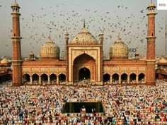 #OldDelhi : A sight-seeing tour of urban center would entail visiting the rule stairs - the memorial web site wherever spiritual leader was cremated; #Jama house of God - the most important #masjid in Asian country.