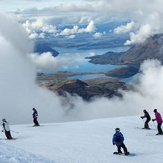 Lots of excellent ski fields to choose from in the South Island. When the cloud clears the views are awesome. Pic by @ecowanakaadventures.